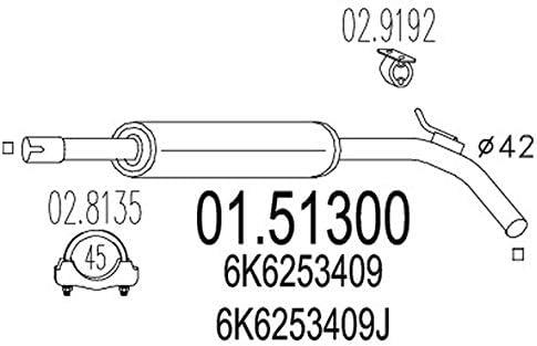 MTS Company 01.51300 Mittelschalld/ämpfer