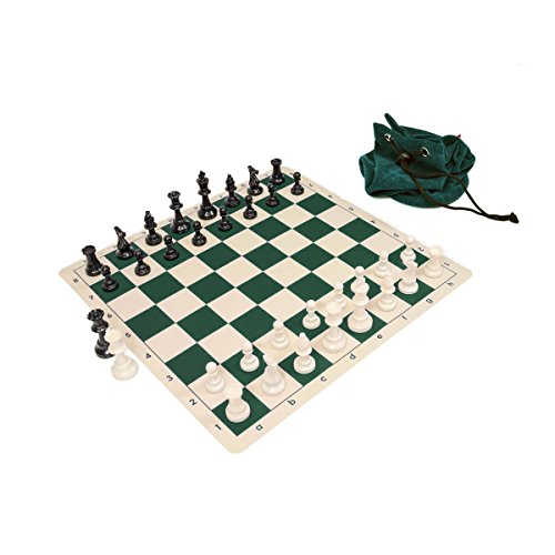 Wholesale Chess Triple Weighted Staunton Silicone Set - Green (Staunton Weighted Chess Set)