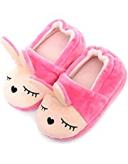 DimaiGlobal Baby Boys Girls Slipper Shoes Anti-Slip Cotton Animal Shoes Soft Sole Toddler Moccasins Warm Slippers Winter House Shoes Cozy Gripper Bottom
