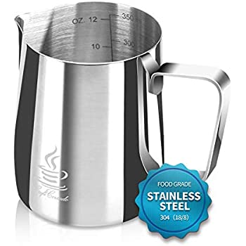 Amazon.com: Jarra para leche espumosa Star Coffee de acero ...