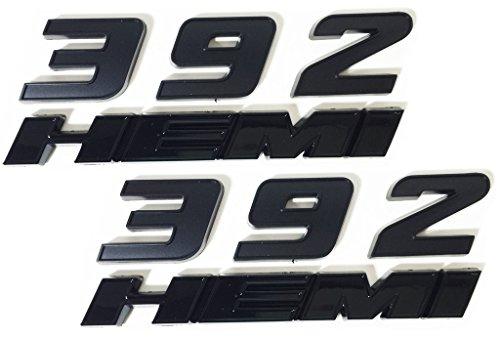 New Matte Black 392 Fender Side Emblem Badge Sticker for SRT 6.4L SRT8-2PCS