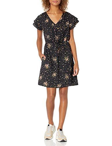 Amazon Brand - Goodthreads Women's Georgette Ruffle-Sleeve Mini Dress