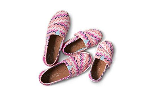 mujer talla 5 Zapatos 38 color Pink Rope 1019B09R Chevron para Toms negro Sole Canvas Tq4wXfxnH