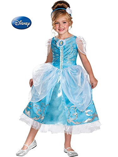 Disguise Disney's Cinderella Sparkle Deluxe Girls Costume, 4-6X from Disguise