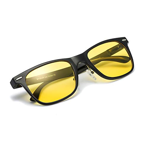 Myiaur Night Vision Glasses for Driving Yellow Lens Anti-glare Cloudy/Rainy/Foggy/Nighttime ()