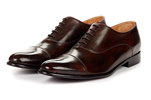 Paul Evans The Cagney Ii Doorgestikte Cap-toe Oxford - Chocolate Chocolate