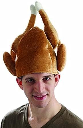 Forum Novelties Men's Roasted Turkey Hat, Brown, One Size
