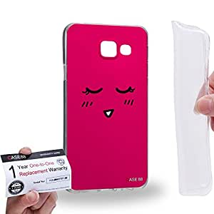 Case88 [Samsung Galaxy A3 (2016)] Gel TPU Carcasa/Funda & Tarjeta de garantía - Art Fashion Shy Kawaii Emoticon Edition Art1365