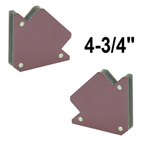 (Set of 2) LARGE 4.75 IN MULTIPURPOSE MAGNET HOLDERS for 45°, 90°, and 135° USE AS FLOATER to separate Steel Plates