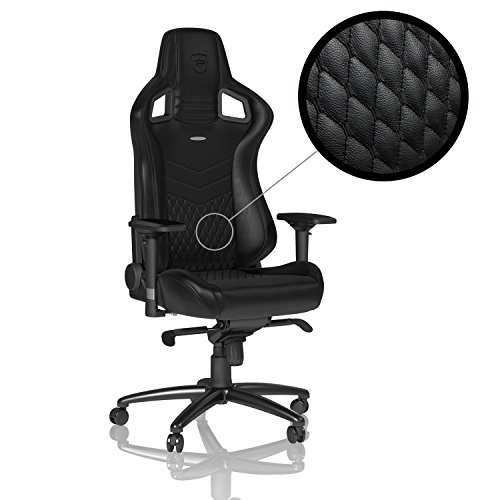 noblechairs Epic Gaming Chair - Office Chair - PU Faux Leather - 135° Reclinable - White/Black