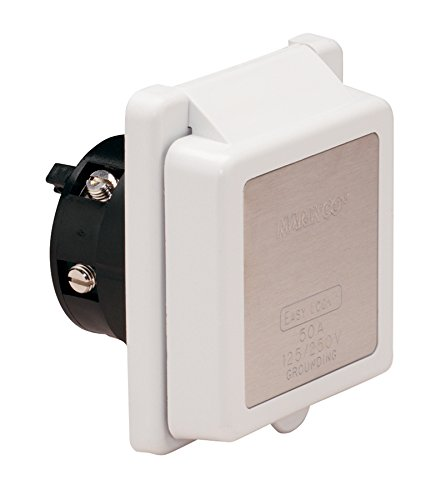 (Marinco 6353EL Marine 4-Wire Standard Poly Locking Power Inlet (50-Amp, 125/250-Volt, Male))