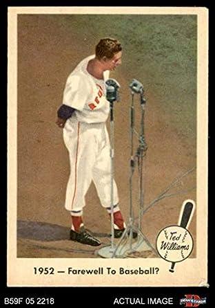 Amazoncom 1959 Fleer 45 Farewell To Baseball Ted