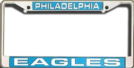 Amazon philadelphia eagles nfl rico laser cut chrome license philadelphia eagles nfl rico laser cut chrome license plate frame officially licensed top of the solutioingenieria Images