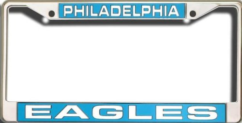 Philadelphia Eagles NFL Rico Laser Cut Chrome License Plate Frame! Officially Licensed Top of the Line Metal Plate Frame ! Showcase your Team Spirit when you're on the Road and set yourself apart in Traffic! Easy to Mount and Highly Durable! A Great Team Collectible ! Makes a Great Gift!! ()