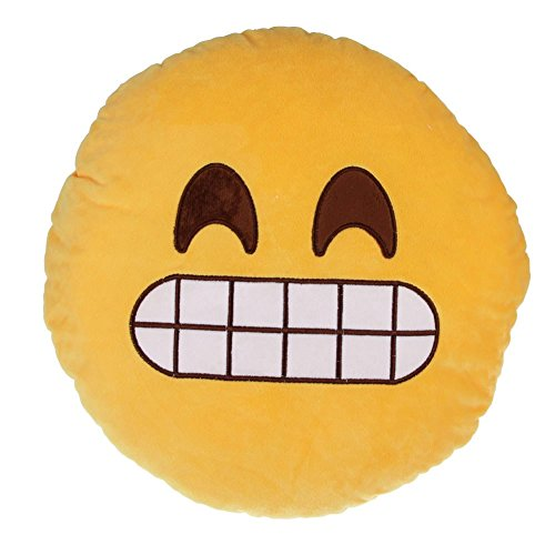 Wide Wale Plush - Sanheshun Cute 32cm Emoji Smiley Emoticon Round Cushion Pillow Stuffed Plush Soft Toy Gift (Hunger)
