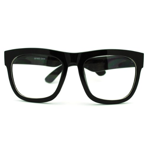Oversized Square Glasses Nerdy Clear Lens Mens Womens Fashion - Girls Glasses Hipster