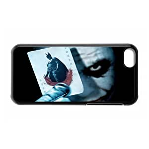 Classic Movie Series&Batman Joker Theme Case Cover for iPhone 5C- Personalized Hard Cell Phone Back Protective Case Shell-Perfect as gift