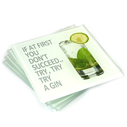 Set of 4 Glass Drinks Coasters