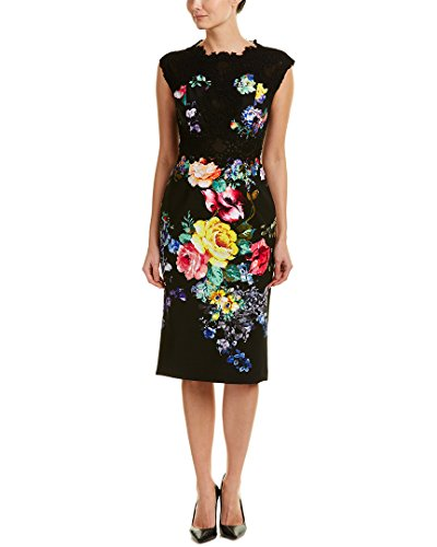 Teri Jon Womens Sheath Dress, 2, Black