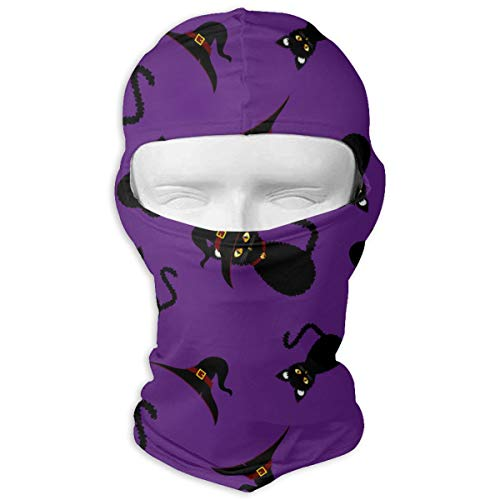 UV Protection Face Mask for Cycling Outdoor Sports Full Face Masks Halloween Black Cat Purple Balaclava Hood Skullies