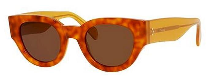 Amazon.com: Céline – Gafas de sol 41064/S/Marco: Havana ...