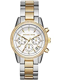 Womens Ritz Silver-Tone Watch MK6474