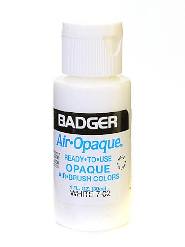 Badger Air Opaque Airbrush Color white 1 oz. bottle [PACK OF 5 ]