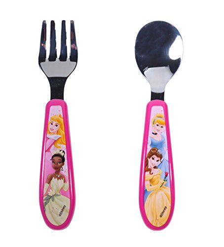 Princess Stainless Steel Fork & Spoon Set (Wholesale Disney Products)