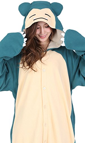 SAZAC Pokemon Snorlax Costume Kigurumi Snorlax Pokemon Fancy Dress Adult Pajamas
