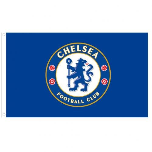Chelsea FC Flag CC - Approx. 3' x 5' Large Team Crest (Chelsea Fc Team)