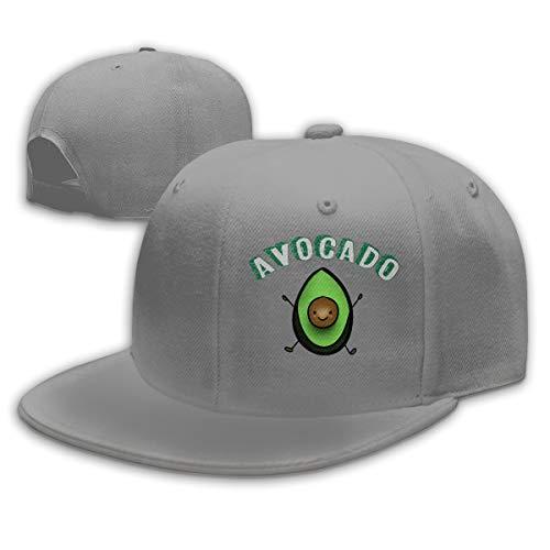 Shenigon Avocado Emoji Flat Visor Baseball Cap, Fashion Snapback Hat Gray