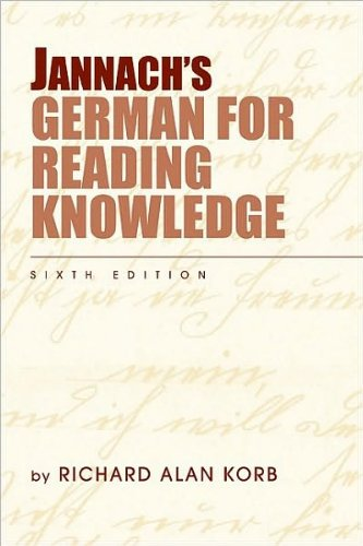 Jannach's German for Reading Knowledge (text only) 6th (Sixth) edition by R. A. Korb -  Heinle
