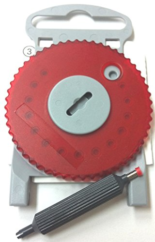HF4 RED Wax Guard Wheel for Siemens Hearing Aids - RED SIDE RIGHT