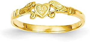 2.75 14K Yellow Gold Baby Child Heart Rings Size 5 Lot of Five