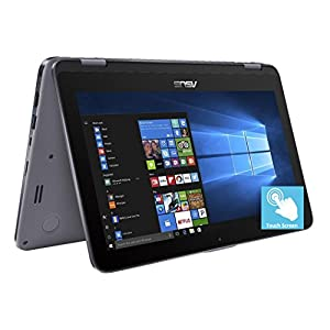 "2018 Premium ASUS Vivobook Flip 11.6"" HD 2-in-1 Convertible Touchscreen Laptop, Intel Celeron N3350 up to 2.4GHz, 4GB RAM, 500GB HDD, Finger Print Reader, ASUS Stylus Pen, 802.11ac, USB Type-C, Win 10"