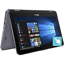 "2018 Premium ASUS Vivobook Flip 11.6"" HD2-in-1 ConvertibleTouchscreen Laptop, Intel Celeron N3350 up to 2.4GHz,4GB RAM, 500GB HDD, Finger Print Reader, ASUS Stylus Pen, 802.11ac, USB Type-C, Win 10"
