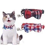 HOMIMP 2 Pack Cat Collar Set Breakaway Plaid