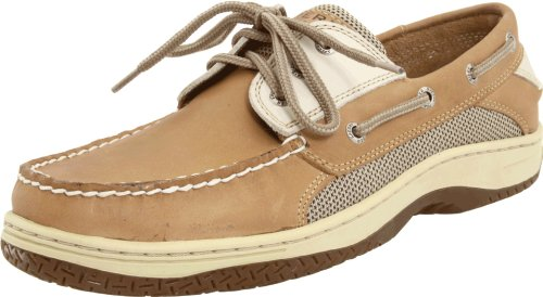 Sperry Mens Billfish 3-Eye Boat Shoe, Tan/Beige, 11 (Sperry Top Sider Boys Billfish Boat Shoes)