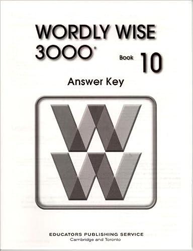 Wordly Wise 3000 Book 10 Answer Key Wendy Drexler Elissa