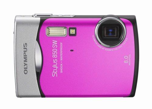 Olympus Stylus 850SW 8MP Digital Camera with 3x Optical Zoom (Pink)