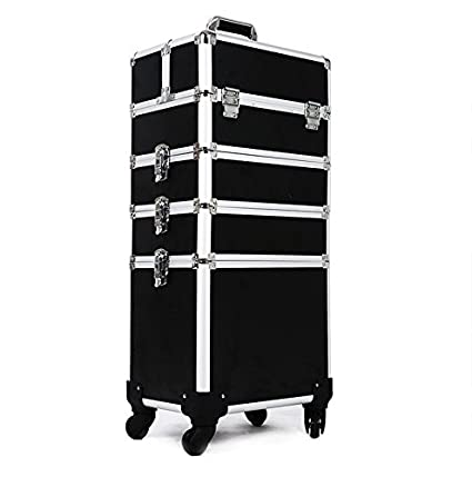 Amazon Com Hul 4 In 1 Professional Rolling Makeup Trolley Case