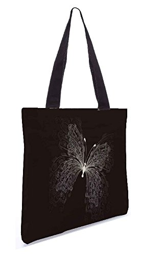 Snoogg Butterly Graphic 13.5 X 15 Pollici Shopping Bag Tote In Tessuto Di Poliestere