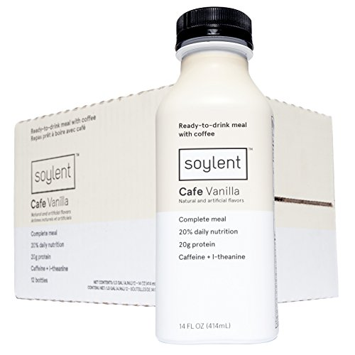 Soylent Meal Replacement Drink, Cafe Vanilla, 14 oz Bottles, (Pack of 12)
