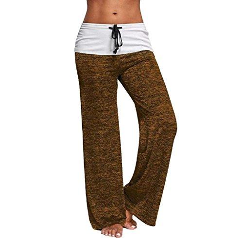 Grazioso Con Larghi Lunga Primaverile Base Giovane Braun Yoga Pantaloni Comodo Pantalone Coulisse Casuale Tempo Baggy Moda Donna Pants Women Solidi Elegante Libero Tuta Colori wC8qY7x