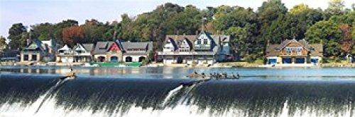 (Posterazzi Boathouse Row at the waterfront Schuylkill River Philadelphia Pennsylvania USA Poster Print (18 x)