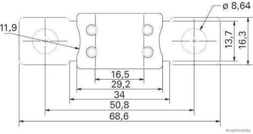 Jakoparts 50295877 Sicherung Mega 150 A