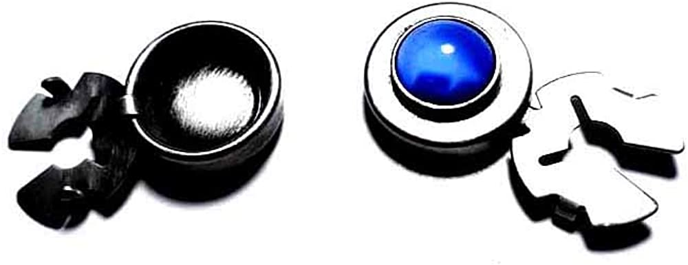 1 par de cubrebotones 18 mm piedra redonda zafiro claro baño ...