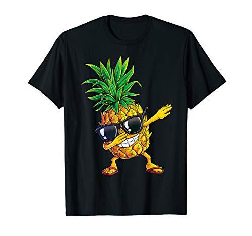 Dabbing Pineapple Sunglasses T shirt Aloha Beaches Hawaii ()