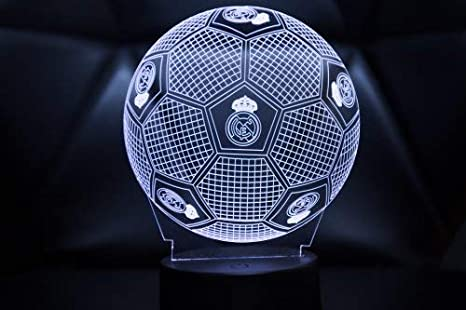 3D LAMPARAS Oficial Balon del Real Madrid Lámpara 2019-2020 Pelota ...