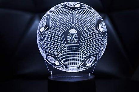 3D LAMPARAS Oficial Balon del Real Madrid Lámpara 2019-2020 Pelota ...